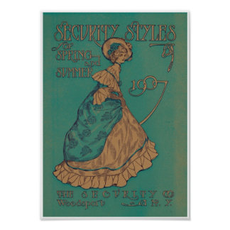 Victorian Lady Spring & Summer Ad 1907 Art Print