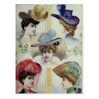 Victorian Lady – Vintage French Fashion –Hats Postcard