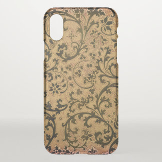 Victorian Leaf and Flower Scroll iPhone X Case