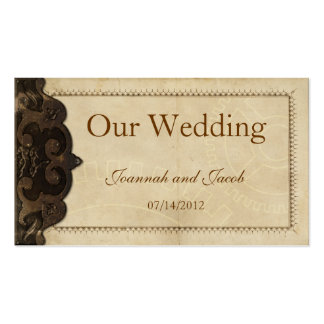 Victorian Leather  Steampunk Wedding Website Card Business Card Templates