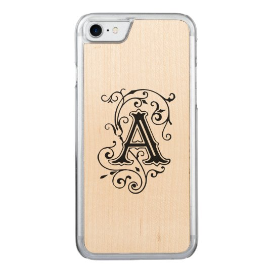 Victorian Letter A Carved iPhone 7 Case