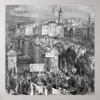 Victorian London -  London Bridge 1872 Poster