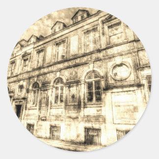 Victorian London Vintage Round Sticker