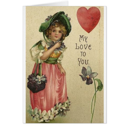 Victorian Love Valentine's Day Card