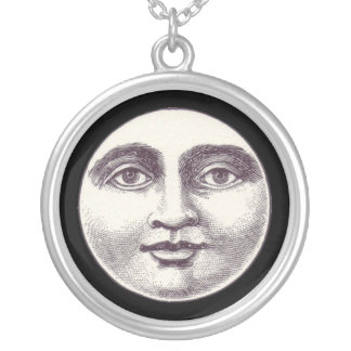 Victorian man in the moon necklace