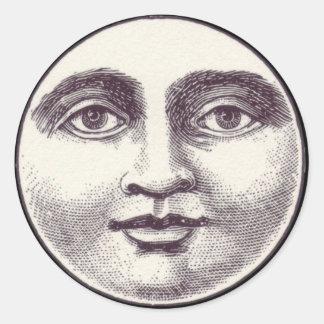 Victorian man in the moon sticker