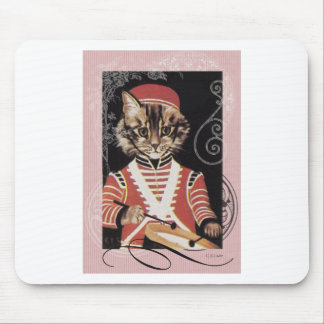Victorian Marching Cat Drummer Boy Drum Mouse Pad