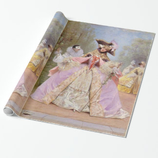 Victorian Masquerade Ball Mardi Gras Party Wrapping Paper