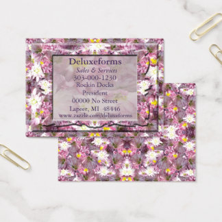 Victorian Mauve Floral Business Card