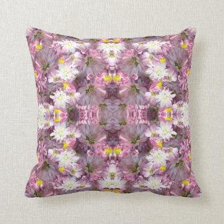 Victorian Mauve Flowers Throw Pillow