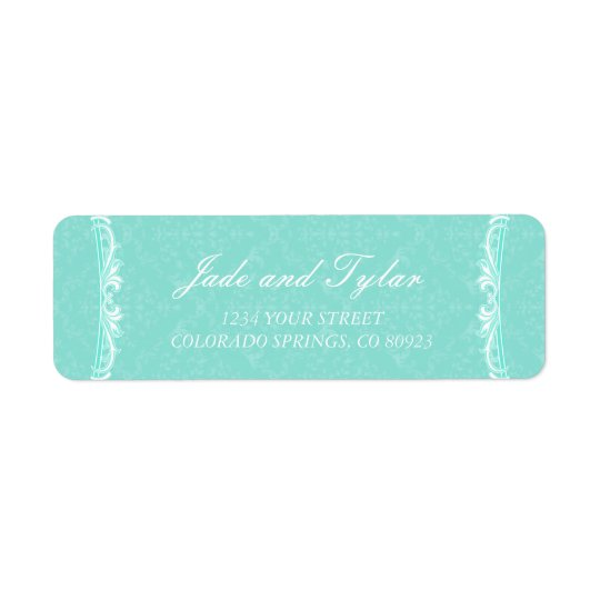Victorian Mint Watercolor Address Labels