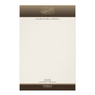 Victorian Mocha Customized Stationery
