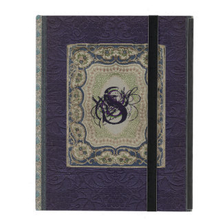 Victorian Monogram Book Design iPad Case