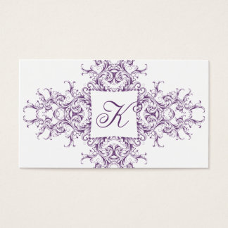 Victorian Monogram Business Card