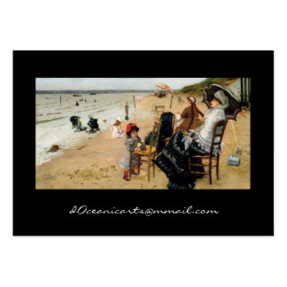 Victorian Mother and Daughter Beachside Large Business Card