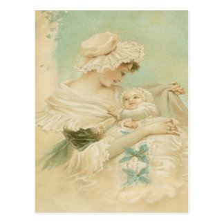 Victorian Mother Holding Child Mother s Day Card Postcards