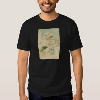 Victorian Mother Holding Child Mother's Day Card Tees