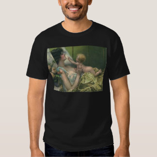 Victorian Mother & New Baby Mother's Day Card T Shirts