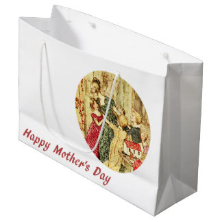 Victorian Mother's Day double-sided Large Gift Bag