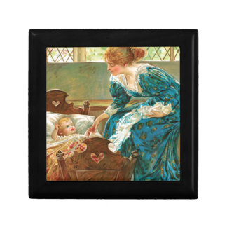 Victorian Mother Tending Her Baby In A Cradle Keepsake Boxes