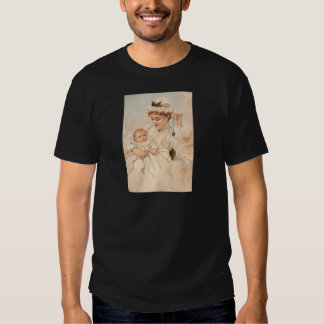 Victorian Mother With Child Mother's Day Card Tee Shirts