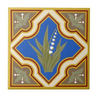 Victorian Muguet des Bois Lily of the Valley Tile