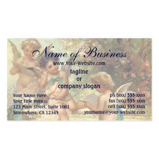 Victorian Music Angels by Hans Zatzka Business Card