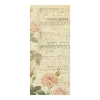 Victorian Music Roses Wedding Program