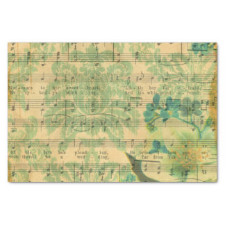 Victorian Music Sheet Wallpaper Tissue Paper