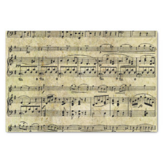 Victorian Music Sheet Wallpaper Tissue Paper