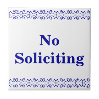 Victorian No Soliciting Sign Tile