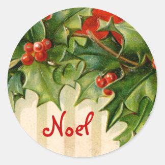 Victorian Noel Christmas sticker