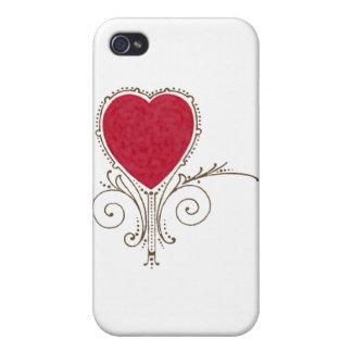 Victorian Nouveau Valentine Heart Cases For iPhone 4
