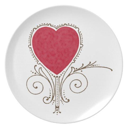 Victorian Nouveau Valentine Heart Plate