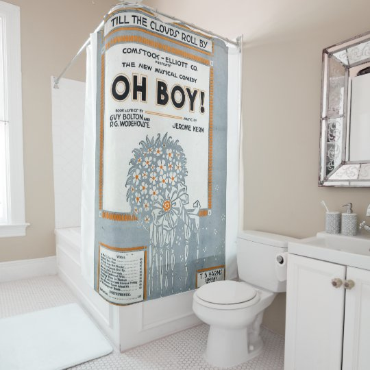 Victorian Oh boyclouds roll shower curtain