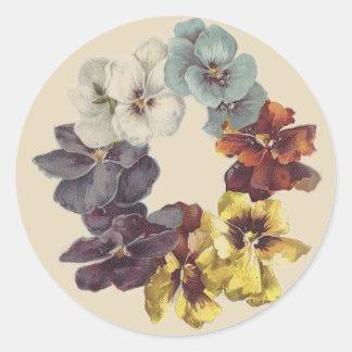 Victorian Pansy Flower Ring Sticker