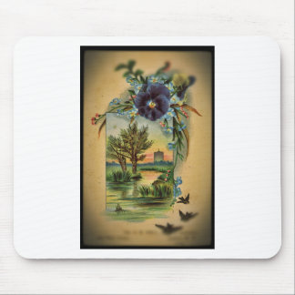 Victorian Pansy Pastoral Mousepad
