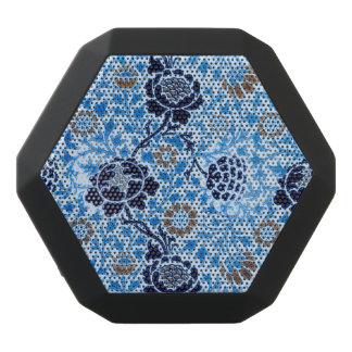 Victorian Pattern In Blue Black Bluetooth Speaker