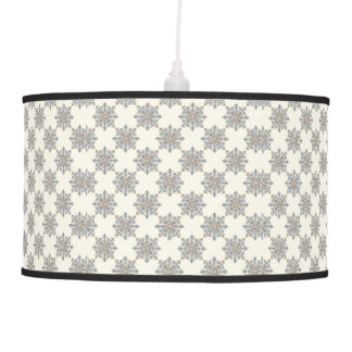 Victorian Pattern in Blue & Brown Hanging Lamps