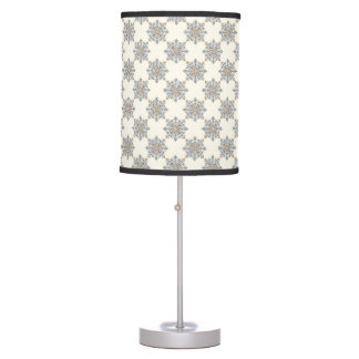 Victorian Pattern in Blue & Brown Table Lamps