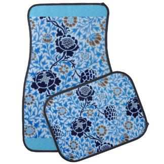 Victorian Pattern In Blue Car Mat