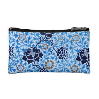 Victorian Pattern In Blue Cosmetic Bag