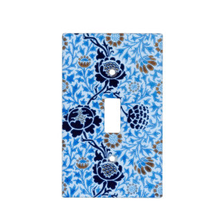 Victorian Pattern In Blue Light Switch Cover