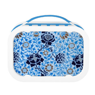 Victorian Pattern In Blue Lunch Box