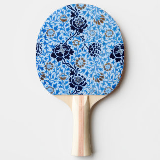 Victorian Pattern In Blue Ping-Pong Paddle