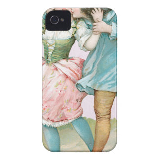 Victorian Pink Blue Boy Girl Valentine iPhone 4 Covers