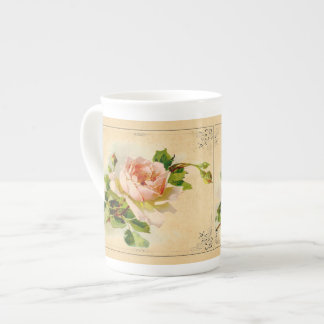 Victorian Pink Rose Cup