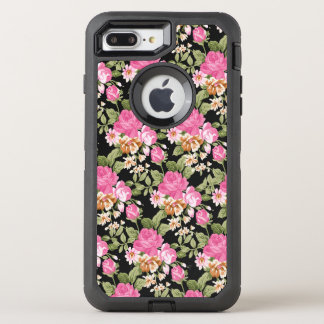 Victorian pink rose pattern otterbox 7 OtterBox defender iPhone 8 plus/7 plus case