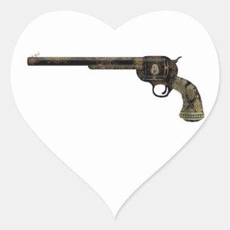 Victorian Pistol Heart Sticker