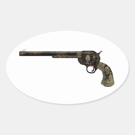 Victorian Pistol Oval Stickers